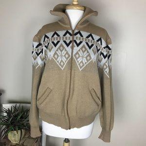Vintage Haband Womens Zip Up Mock Jacket